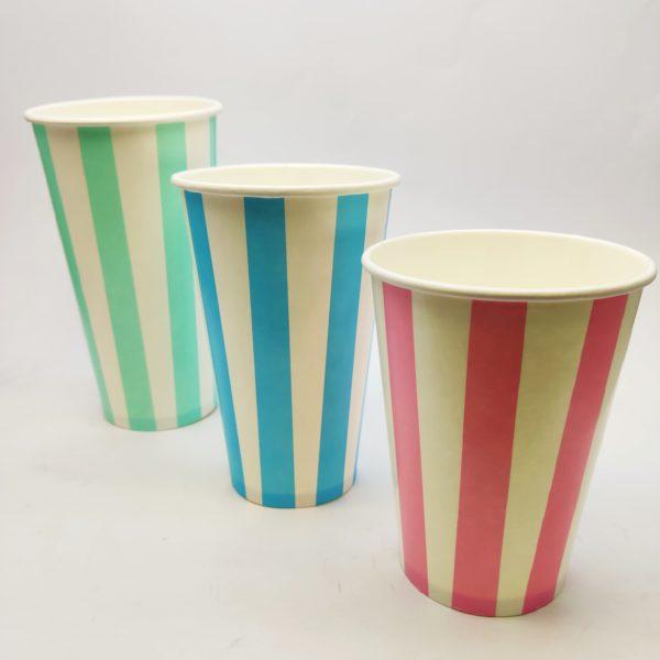 Candy Stripe Paper Cups