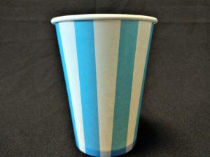 Candy Stripe Paper Cup Blue