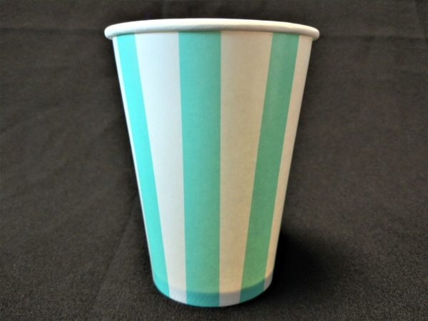 Candy Stripe Paper Cup Green