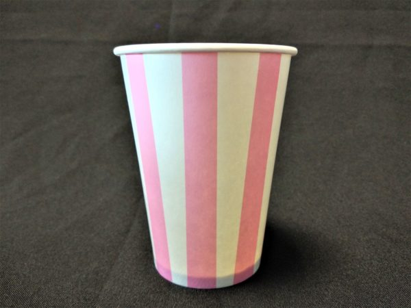 Candy Stripe Paper Cup Pink