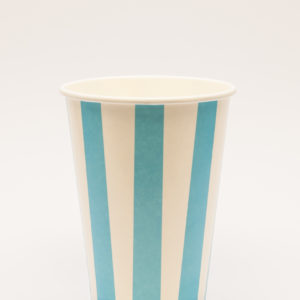 Candry Stripe cups for cold drinks - Blue (12oz)