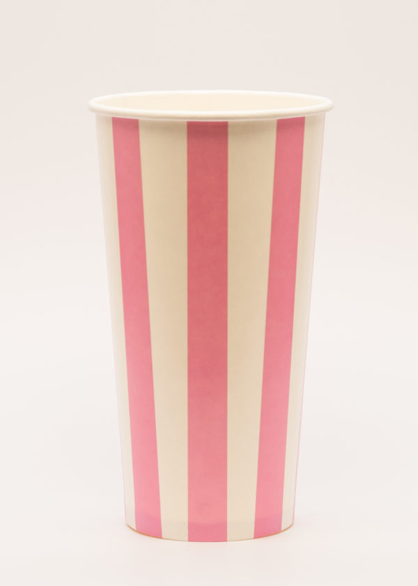 Candry Stripe cups for cold drinks - Pink (20oz)