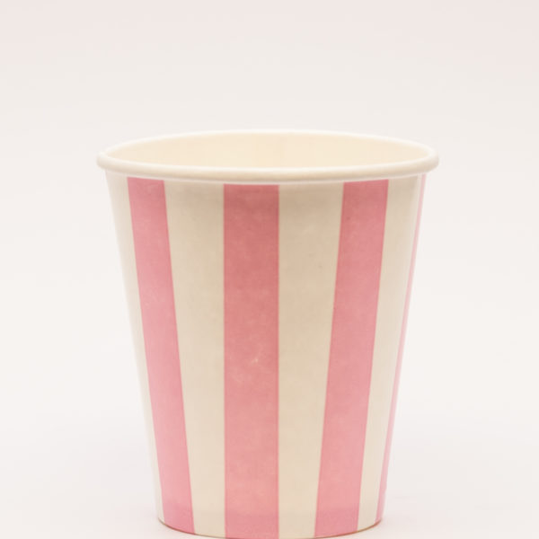 Candry Stripe cups for cold drinks - Pink (8oz)