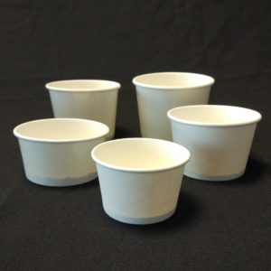 White Ice Cream Cups