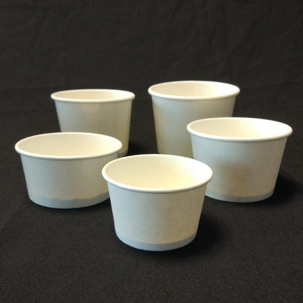 White Ice Cream Cups