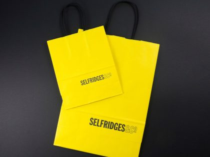 Coffee cups transformed into shopping bags for Selfridges