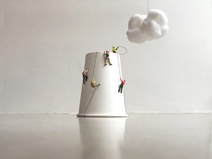 Designer Constructs Wonderful, Imaginative Scenarios From Used Coffee Cups