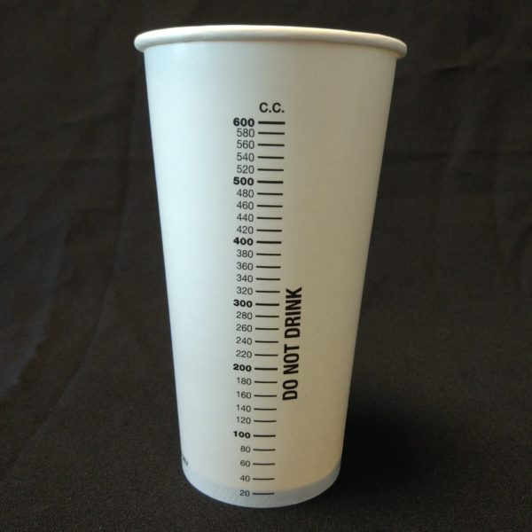 600cc Measuring Cup Paper Cup