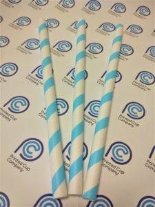 Paper Straws - Blue Stripe