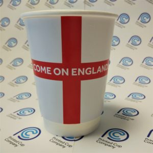 England Flag Paper Cup