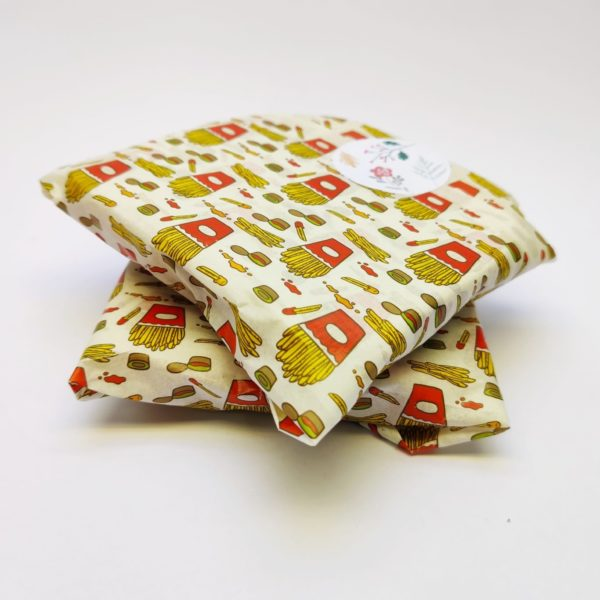 Fries and Ketchup Greaseproof Paper