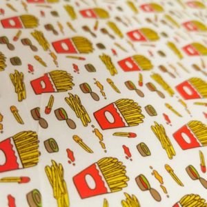 Fries & ketchup Greaseproof Paper