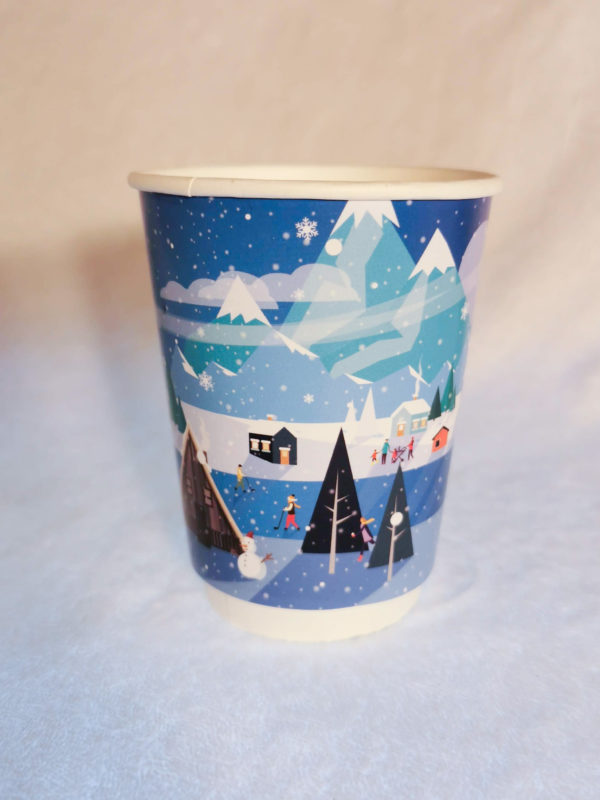 Christmas Scene Paper Cup