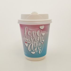 Love Is In The Air Valentines Day Printed Paper Cups