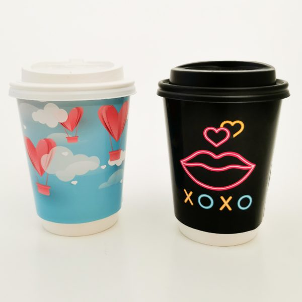 Valentines Day Printed Paper Cups