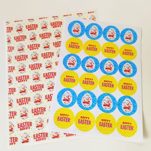 Happy Easter Greaseproof & Stickers