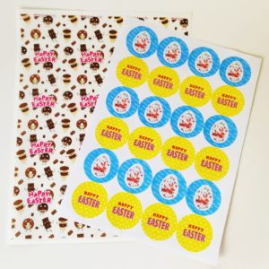 Easter Chocolate Greaseproof & Stickers