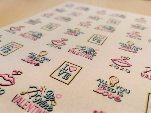 Valentines Day Greaseproof Paper