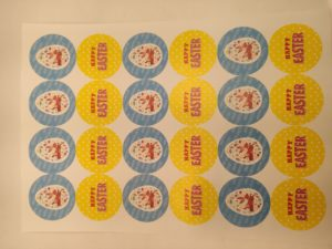 Easter printed Stickers