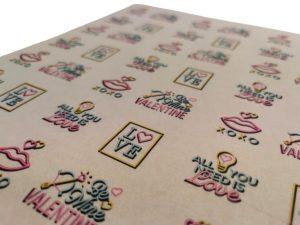 Neon 'Love' Greaseproof Paper