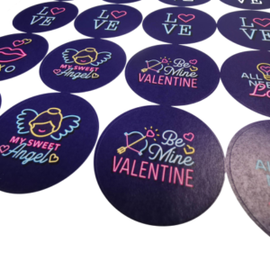 Valentines Day Printed Stickers