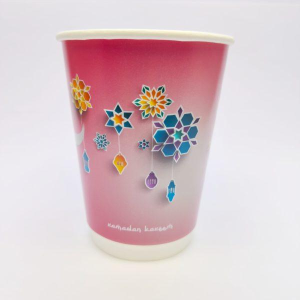12oz Ramadan Paper Cups in Pink