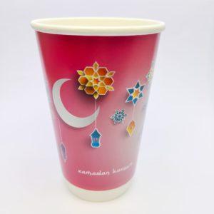 16oz Ramadan Paper Cups in Pink