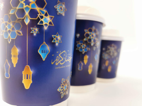 Ramadan Printed Paper Cups in Blue