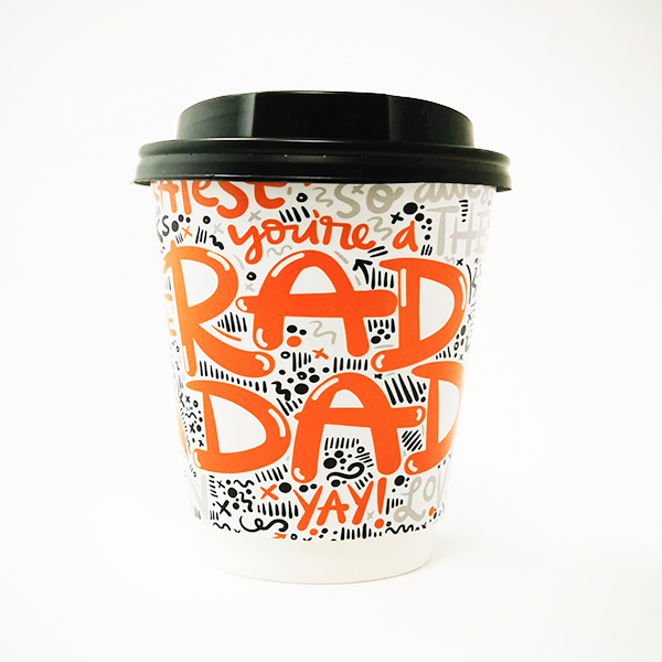 Rad Dad Fathers Day Paper Cup