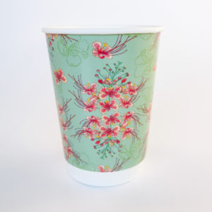 Orchid Flower Printed Paper Cups